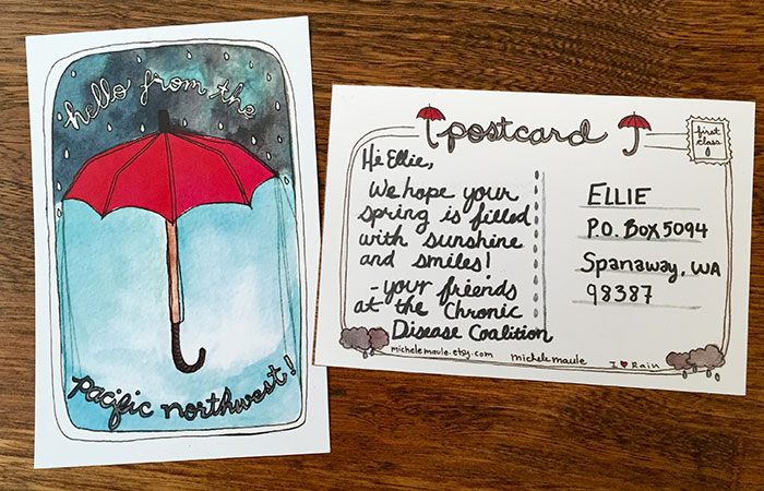 Postcards represent hope for 3-year-old fighting brain cancer