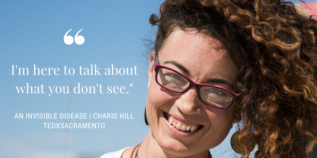 Charis Hill discusses living with an invisible disease