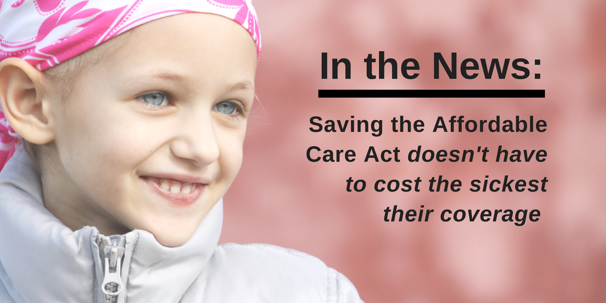 Saving the Affordable Care Act shouldn't cost sick people their coverage
