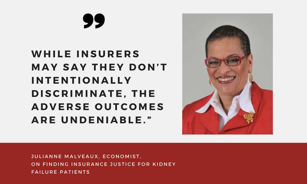 Julianne Malveaux calls on government leaders to provide insurance justice for kidney patients