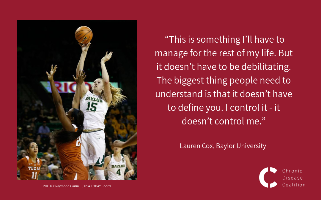 Baylor basketball star battles opponents on the court, and chronic disease off