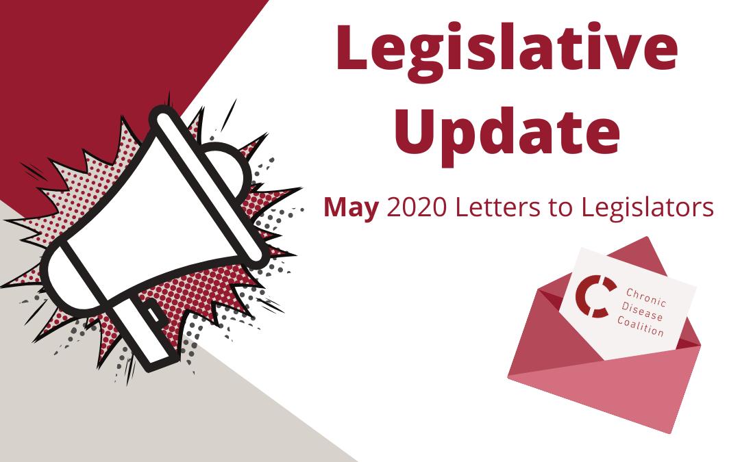 May 2020 Letters to Legislators