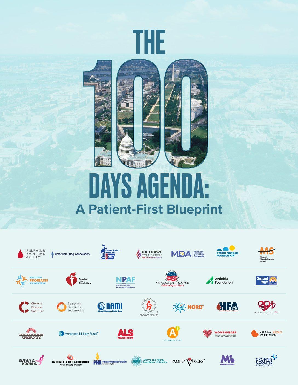 Patient organizations launch 100 Days Agenda: A Patient First Blueprint